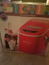 Coca Cola  Series 26 Lb Day Countertop Ice Maker  Portable Coke IceCube IceMaker