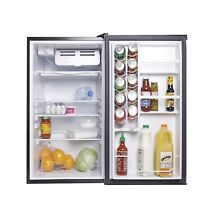 4 5 Cu Ft Virtual Steel Refrigerator Compact Freezer Box 2 adjustable shelves