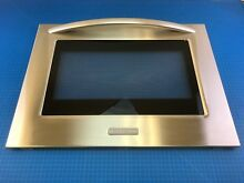 Genuine KitchenAid Range Oven Outer Door Glass Panel 9762766SS W10155557