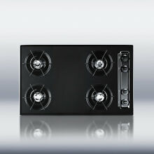 New in Box Black 30  Gas 4 Burner CookTop Surface Unit Elec Ign   FREE Shipping