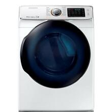 Samsung 7 5 cu  ft  Electric Steam Dryer comes with 1 Pedestal   DV50K7500EW