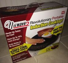 NuWave 2 Induction Cooktop Portable  Precision   FREE 9  Ceramic Fry Pan NEW BOX