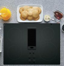 GE Profile 30  Downdraft Electric Cooktop Black Glass Top PP9830DJBB RA09462