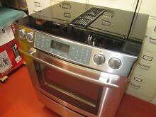 Jenn Air Electric Range  Extra Nice Stainless New Glasstop  Downdraft