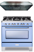Verona VCLFSGG365BL 36  Pro Style All Gas Single Range Oven With Hood Package