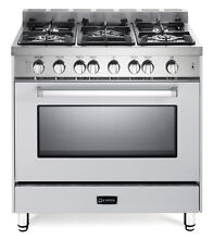Verona VEFSGG365NW 36  Pro Style All Gas Single Range Oven 5 Burner True White