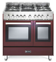 Verona VEFSGG365NDBU 36  Pro Style Gas Range Turbo Double Oven Convection