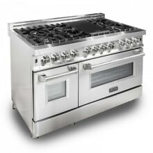 ZLINE 48  Stainless Steel 6 0 cu ft  7 Gas Burner Electric Oven Range  RA48