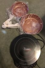 Nuwave 2 Precision induction cooktop with 2 New frying Pans