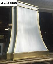 Zinc Hood Range Hood for La Cornue  Fan Incl  Custom Sizes All Metals Model  186