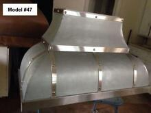 Zinc Range Hood  La Cornue Hood  Fan Incl  All Custom Sizes Metals   Model  47