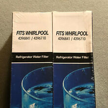 Whirlpool   Kenmore Refrigerator Water Filter Fits 4396841 4396710  lot of 2
