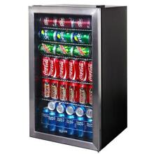 Stainless Steel 126 Can Beverage Cooler Kitchen Appliance   black