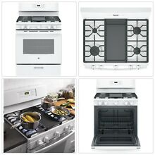 Free Standing Gas Range Sealed Cooktop Heavy Duty Grates Nonstick Griddle 30