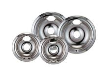 GE Electric Hotpoint Whirlpool Stove Drip Pans Range Replacement Chrome 4 Pack