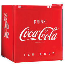 CocaCola Mini Fridge Freezer Compact Dorm Refrigerator Coke Coca Cola Beverages