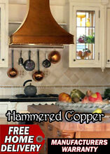 Vent A Hood Hammered Antinque Copper with Bands 600 CFM JDH242C1OL