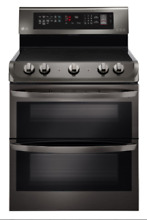 LG LDE4413BD 30  Black Stainless Dual Oven Electric Range Brand New In The Box