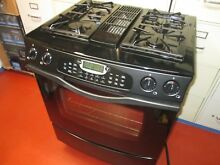 Jenn Air Gas Dual Fuel Range   Used   Nice Condition   Black Downdraft
