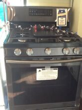 New Open Box Black Stainless Samsung Gas Range NX58J5600SG with full warranty