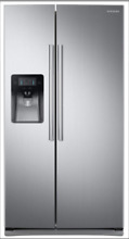 SAMSUNG RS25J500DSR Samsung 25 cu  ft  Capacity Side By Side Refrigerator NEW