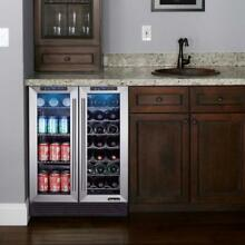 Dual Zone 23 4 in  42 Bottle 114 Can Wine and Beverage Cooler