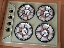 VINTAGE MCM MID CENTURY MODERN STOVE TOP RETRO CREAM GREEN NEW NEVER USE CALORIC