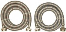 2 Pack 6 ft L Stainless Steel Washing Machine Connector Hose Thread Durable