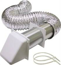 Lambro 1375W Preferred Hood Dryer Vent Kit  3 Pieces  4 in X 8 ft