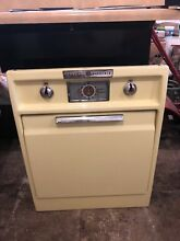 Antique  vintage Yellow  1950 s GE  general electric  wall oven stove  cook top