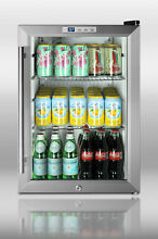 Summit SCR312L Commercial Counter Top 18  Compact Refrigerator Beverage W Lock
