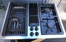 Ships48Free Jenn Air JGD8130ADS Stainless Downdraft Cooktop w  GRILL INSERT