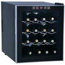 Black Thermoelectric 16 bottle Beverage Wine Cooler Refrigerator