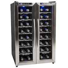 EdgeStar 21 Inch Wide 32 Bottle Wine Cooler with Dual Cooling Zones Appliance