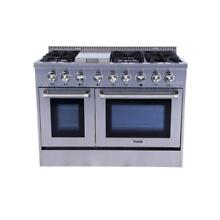 Thor Kitchen HRG4808U 48  Freestanding Professional Gas Range W  Oven