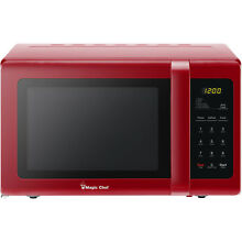 Countertop Microwave Oven Kitchen Digital Timer Auto Defrost Foods 900 Watts Red