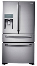 Samsung RF22KREDBSR 36   Silver Counter Depth 4 Door French Door Refrigerator