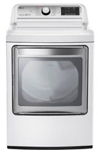 LG DLEX7600WE 27  7 3 cu  ft  Front Loader Electric Dryer  TurboSteam   White