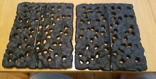 2 Vintage Jenn Air Lava  Grates for Electric Downdraft Cooktop Black Cast Iron