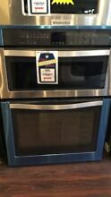 New Open Box Whirlpool 30  Electric Oven Microwave Combo Built In Stainless Stee