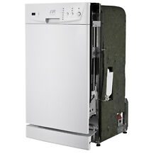 Energy Star White 18 inch Built In Dishwasher Panel Controls