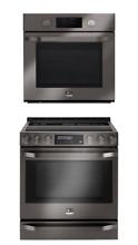 LG STUDIO Slide In 30  Electric Range Convection Stove   Wall Oven Set SelfClean