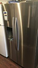 New Open Box Whirlpool 20 29 Cu  Ft  Counter Depth Side By Side Refrigerator Fin