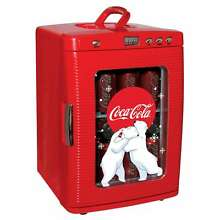 Red Plastic Compact Coca Cola 28 Can Fridge Refrigerator Fridge
