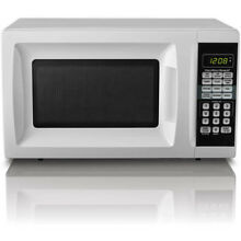 Hamilton Beach Cubic White  7 cu Microwave Oven Countertop 10 Power Levels LED