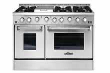 Thor Kitchen 48 Inch Pro Stainless Steel 6 burner Duel Fuel Range    HRD4803U