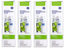 Lot of 4 Genuine GE MSWF SmartWater Refrigerator Water Filter Cartridges NEW