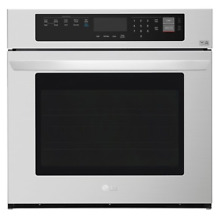 LG LWS3063ST 30  Electric Single Wall Oven w True Convection   Stainless Steel