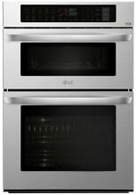 LG Self Cleaning Convection Microwave Wall Oven Combo  Stainless Steel  30  in