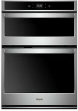 Whirlpool Self Cleaning And Microwave Wall Oven Combo  Stainless Steel  30 in